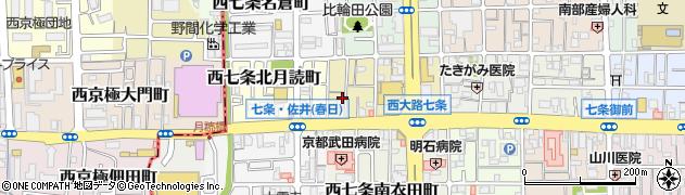 京都府京都市下京区西七条北衣田町周辺の地図