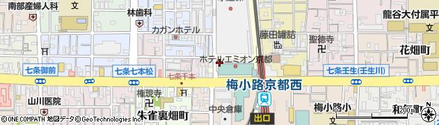京都府京都市下京区朱雀堂ノ口町周辺の地図