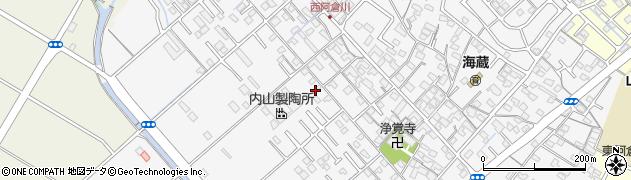 三重県四日市市西阿倉川周辺の地図