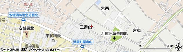 愛知県安城市浜屋町(宮西)周辺の地図