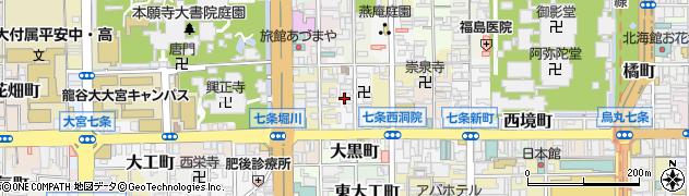 京都府京都市下京区文覚町周辺の地図