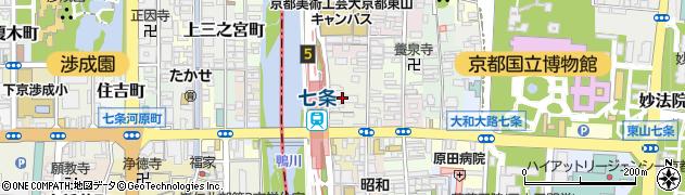 京都府京都市東山区下堀詰町周辺の地図