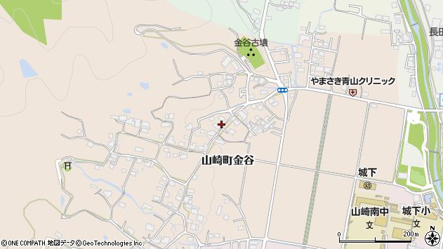 〒671-2555 兵庫県宍粟市山崎町金谷の地図