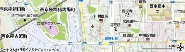 京都府京都市右京区西京極西川町周辺の地図