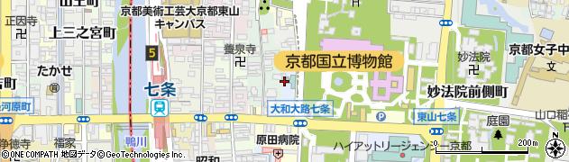 京都府京都市東山区大和大路二丁目周辺の地図