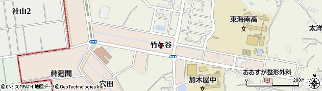 愛知県東海市養父町(竹ケ谷)周辺の地図