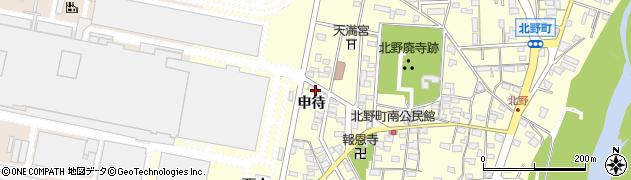愛知県岡崎市北野町(申待)周辺の地図