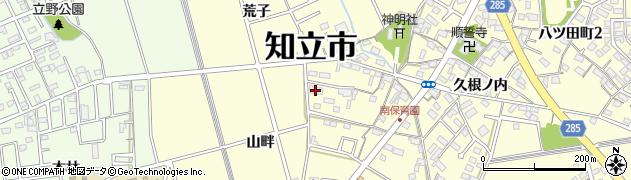 愛知県知立市八ツ田町周辺の地図