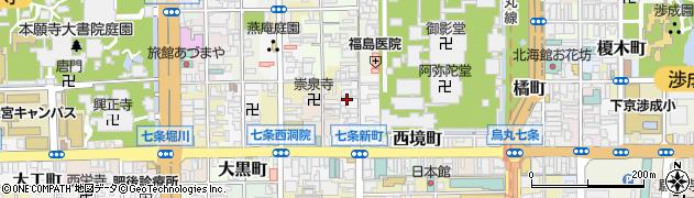 京都府京都市下京区辰巳町周辺の地図