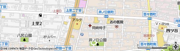 愛知県岡崎市井ノ口新町周辺の地図