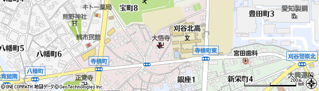 大悟寺周辺の地図
