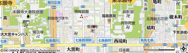 京都府京都市下京区井筒町周辺の地図