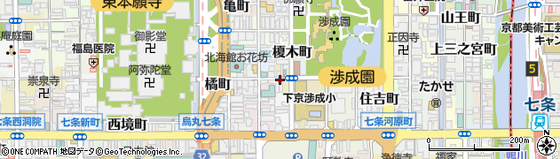 京都府京都市下京区西玉水町周辺の地図