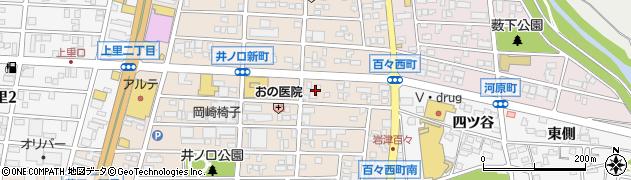 愛知県岡崎市百々西町周辺の地図