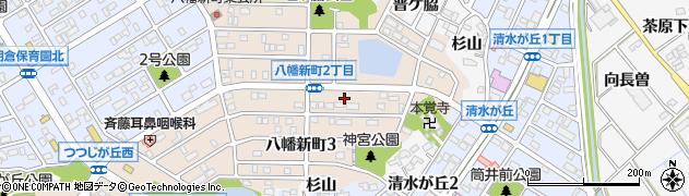 愛知県知多市八幡新町周辺の地図