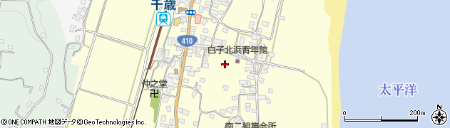 千葉県南房総市千倉町白子周辺の地図