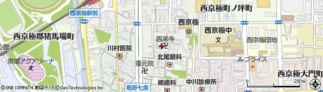 西来寺周辺の地図
