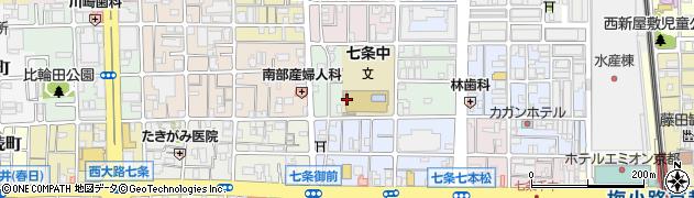京都府京都市下京区西七条御領町周辺の地図
