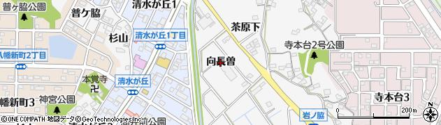 愛知県知多市八幡(向長曽)周辺の地図
