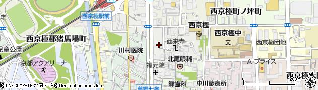 京都府京都市右京区西京極北裏町周辺の地図
