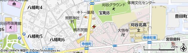 スタミナ刈谷周辺の地図