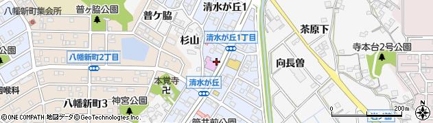 愛知県知多市清水が丘周辺の地図