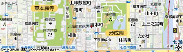 京都府京都市下京区榎木町周辺の地図