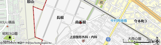 愛知県安城市住吉町(南長根)周辺の地図