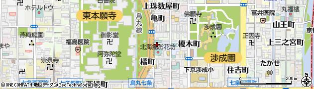 京都府京都市下京区卓屋町周辺の地図