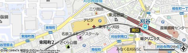 愛知県刈谷市南桜町周辺の地図