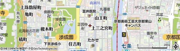 京都府京都市下京区八王子町周辺の地図