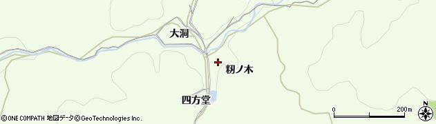 愛知県岡崎市滝町(籾ノ木)周辺の地図