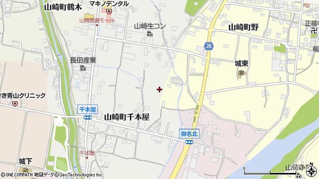 〒671-2544 兵庫県宍粟市山崎町千本屋の地図