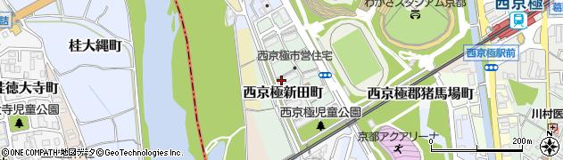 京都府京都市右京区西京極新田町周辺の地図