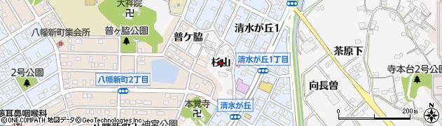 愛知県知多市八幡(杉山)周辺の地図