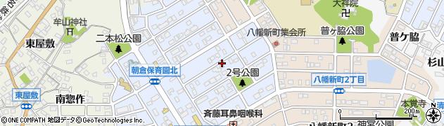 愛知県知多市朝倉町周辺の地図