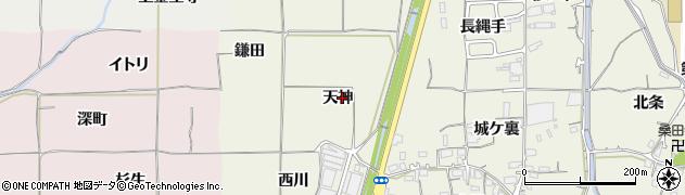 京都府亀岡市曽我部町寺(天神)周辺の地図