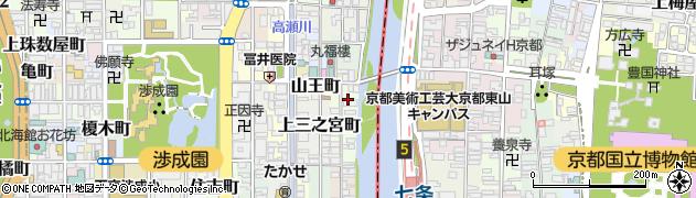 京都府京都市下京区上二之宮町周辺の地図