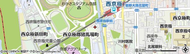 京都府京都市右京区西京極郡沢町周辺の地図