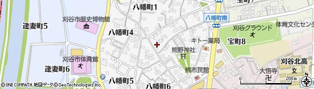 愛知県刈谷市八幡町周辺の地図