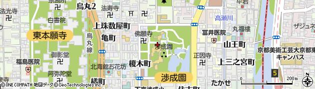 京都府京都市下京区東玉水町周辺の地図
