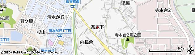 愛知県知多市八幡(茶原下)周辺の地図