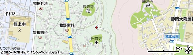静岡県静岡市葵区籠上周辺の地図