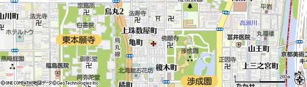 京都府京都市下京区筒金町周辺の地図