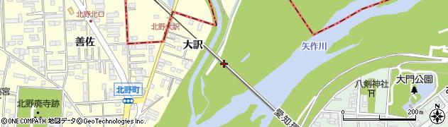 愛知県岡崎市北野町(欠間)周辺の地図