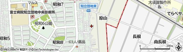 愛知県知立市牛田町(原山)周辺の地図