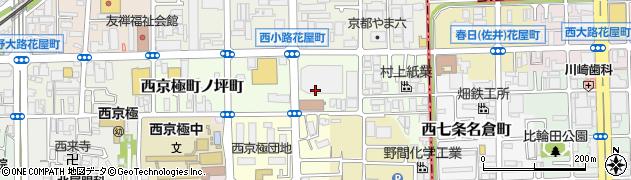 京都府京都市右京区西京極南庄境町周辺の地図