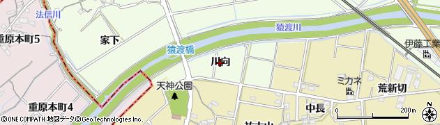 愛知県知立市上重原町(川向)周辺の地図