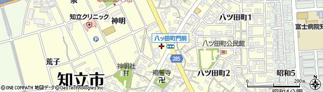 愛知県知立市八ツ田町(門前)周辺の地図
