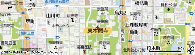 京都府京都市下京区常葉町周辺の地図